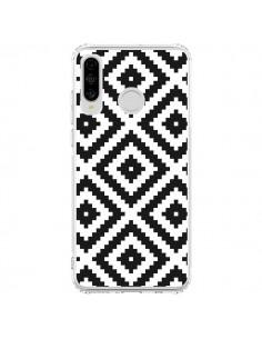 Coque Huawei P30 Lite Diamond Chevron Black and White - Pura Vida