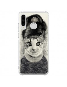 Coque Huawei P30 Lite Audrey Cat Chat - Tipsy Eyes