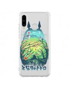 Coque Huawei P30 Lite Totoro Manga Flower Transparente - Victor Vercesi