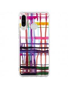 Coque Huawei P30 Lite Little Textured Dots Pink - Ninola Design