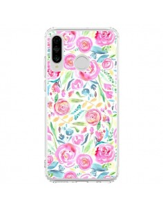 Coque Huawei P30 Lite Speckled Watercolor Pink - Ninola Design