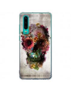 Coque Huawei P30 Skull Flower Tête de Mort - Ali Gulec