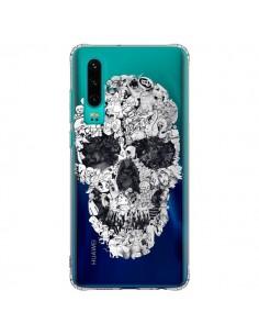 Coque Huawei P30 Doodle Skull Dessin Tête de Mort Transparente - Ali Gulec
