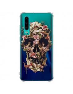 Coque Huawei P30 Jungle Skull Tête de Mort Transparente - Ali Gulec