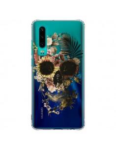 Coque Huawei P30 Garden Skull Tête de Mort Transparente - Ali Gulec