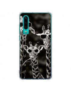 Coque Huawei P30 Girafe Swag Lunettes Familiy Giraffe - Asano Yamazaki