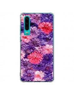 Coque Huawei P30 Fleurs Violettes Flower Storm - Asano Yamazaki