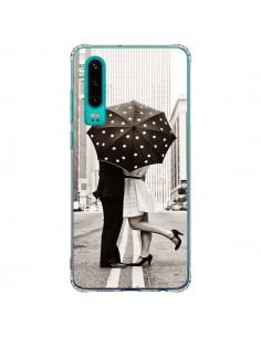 Coque Huawei P30 Secret under Umbrella Amour Couple Love - Asano Yamazaki