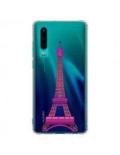 Coque Huawei P30 Tour Eiffel Rose Paris Transparente - Asano Yamazaki