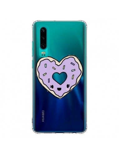 Coque Huawei P30 Donuts Heart Coeur...