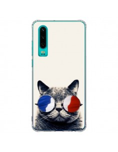 Coque Huawei P30 Chat à lunettes françaises - Gusto NYC