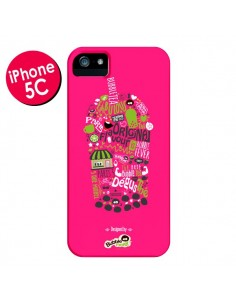 Coque Bubble Fever Original Flavour Rose pour iPhone 5C - Bubble Fever