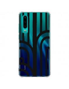 Coque Huawei P30 Geometric Noir Transparente - Dricia Do