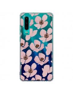 Coque Huawei P30 Fleurs Roses Flower Transparente - Dricia Do