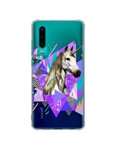 Coque Huawei P30 Licorne Unicorn Azteque Transparente - Kris Tate