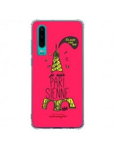 Coque Huawei P30 Je suis Parisienne La Tour Eiffel Rose - Leellouebrigitte