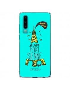 Coque Huawei P30 Je suis Parisienne La Tour Eiffel Bleu - Leellouebrigitte