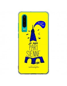 Coque Huawei P30 Je suis Parisienne La Tour Eiffel Jaune - Leellouebrigitte
