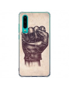 Coque Huawei P30 Fight Poing Cuir - Lassana