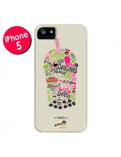 Coque Bubble Fever Original Flavour Beige pour iPhone 5 et 5S - Bubble Fever