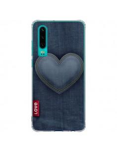 Coque Huawei P30 Love Coeur en Jean - Lassana