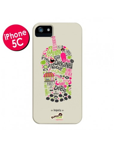 Coque Bubble Fever Original Flavour Beige pour iPhone 5C - Bubble Fever