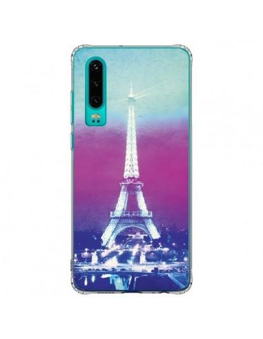 Coque Huawei P30 Tour Eiffel Night -...
