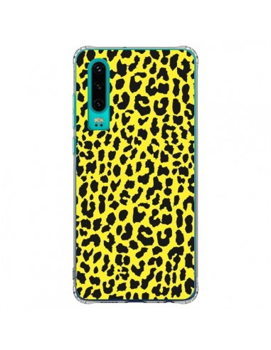 Coque Huawei P30 Leopard Jaune - Mary...