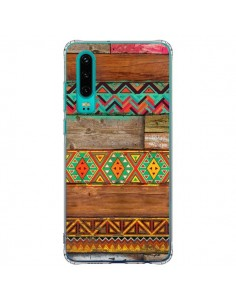 Coque Huawei P30 Indian Wood Bois Azteque - Maximilian San