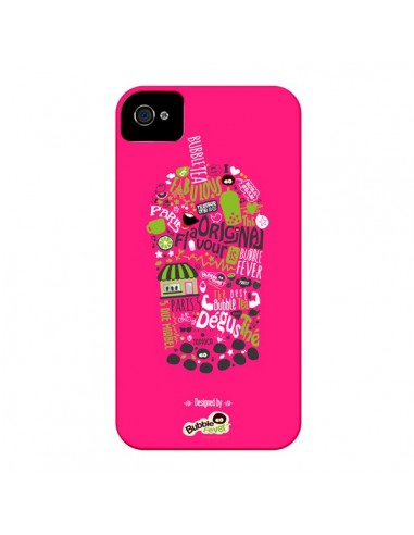 Coque Bubble Fever Original Flavour Rose pour iPhone 4 et 4S - Bubble Fever
