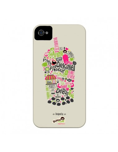Coque Bubble Fever Original Flavour Beige pour iPhone 4 et 4S - Bubble Fever