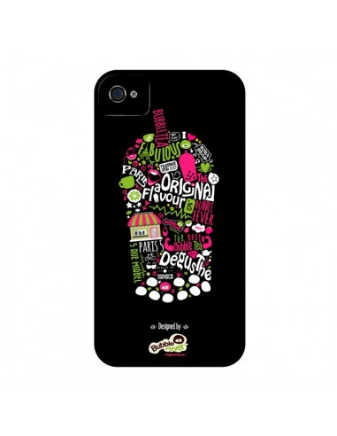 Coque Bubble Fever Original Flavour Noir pour iPhone 4 et 4S - Bubble Fever