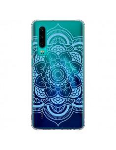 Coque Huawei P30 Mandala Bleu Azteque Transparente - Nico