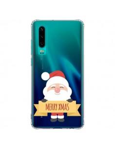 Coque Huawei P30 Père Noël Merry Christmas transparente - Nico