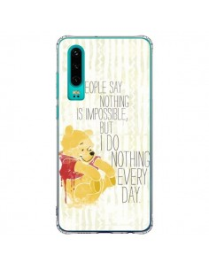 Coque Huawei P30 Winnie I do nothing every day - Sara Eshak