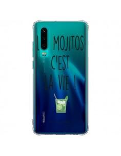 Coque Huawei P30 Les Mojitos, c'est la vie Transparente - Les Vilaines Filles