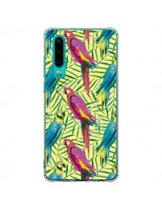 Coque Huawei P30 Tropical Monstera Leaves Multicolored - Ninola Design