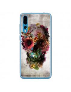 Coque Huawei P20 Pro Skull Flower Tête de Mort - Ali Gulec