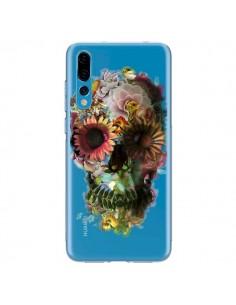 Coque Huawei P20 Pro Skull Flower Tête de Mort Transparente - Ali Gulec
