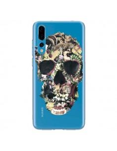 Coque Huawei P20 Pro Skull Vintage Tête de Mort Transparente - Ali Gulec