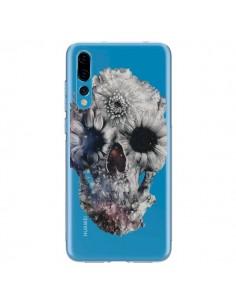 Coque Huawei P20 Pro Floral Skull Tête de Mort Transparente - Ali Gulec