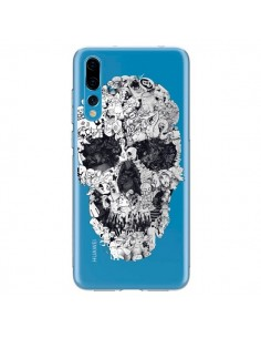 Coque Huawei P20 Pro Doodle Skull Dessin Tête de Mort Transparente - Ali Gulec