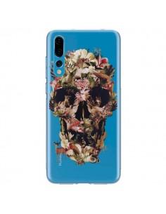 Coque Huawei P20 Pro Jungle Skull Tête de Mort Transparente - Ali Gulec