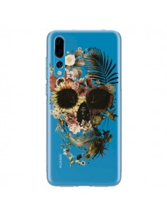 Coque Huawei P20 Pro Garden Skull Tête de Mort Transparente - Ali Gulec