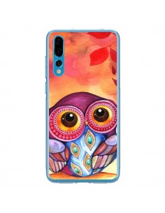 Coque Huawei P20 Pro Chouette Feuilles Automne - Annya Kai