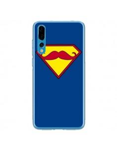 Coque Huawei P20 Pro Super Moustache Movember Superman - Bertrand Carriere