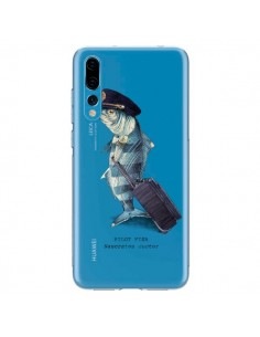 Coque Huawei P20 Pro Pilot Fish Poisson Pilote Transparente - Eric Fan