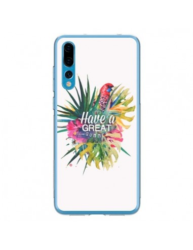 Coque Huawei P20 Pro Have a great summer Ete Perroquet Parrot - Eleaxart
