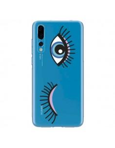Coque Huawei P20 Pro Eyes Oeil Yeux Bleus Transparente - Léa Clément