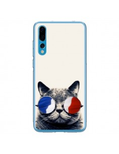 Coque Huawei P20 Pro Chat à lunettes françaises - Gusto NYC